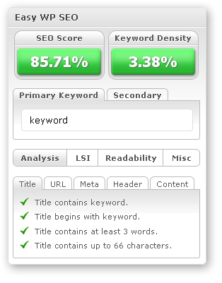 Easy WP Seo Review Version 1.9, Web Page Optimisation on Steroids